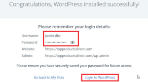 how to build website - save username and password